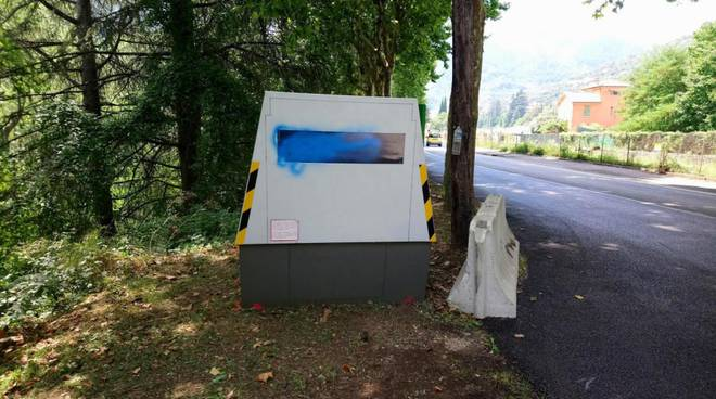 autovelox vandalizzato