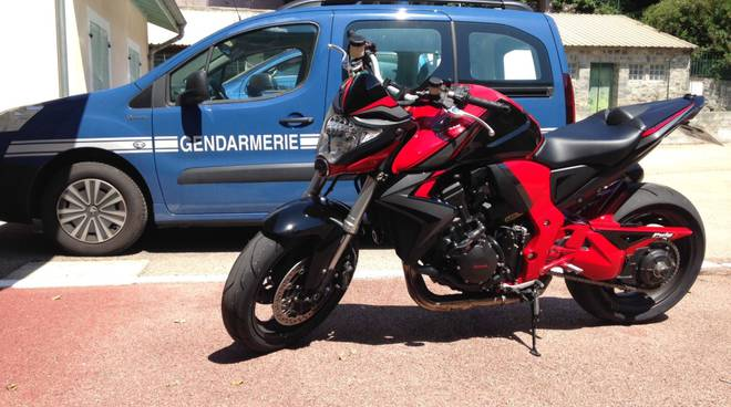 moto sequestrata gendarmeria