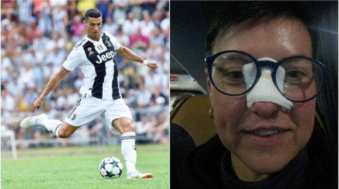 calcio faccia ronaldo