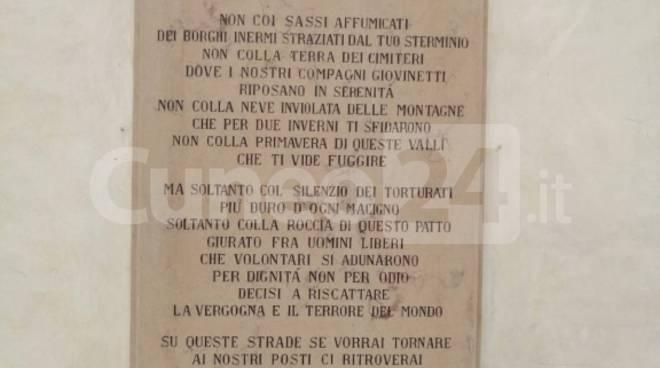 Epigrafe comune Cuneo