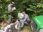 rifiuti abbandonati discarica lesegno carabinieri forestali ceva