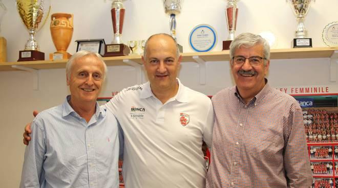 Diego Barroero, Liano Petrelli e Diego Borgna Granda Volley Academy