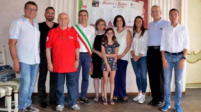 Responsabile Croce Rossa del Principato di Monaco in visita ufficiale al Comitato Cri di Busca