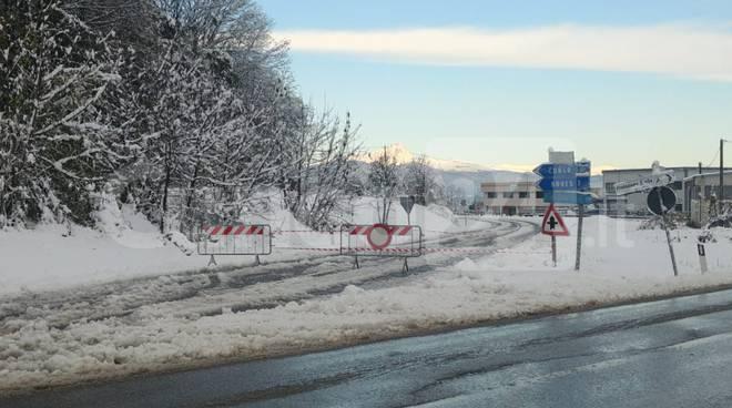peveragno sp5 chiusa neve