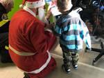 Babbo natale e Pompiere Sam pediatria cuneo