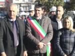 In foto da sx il Consigliere Senatore Bergesio, il Sindaco Tallone, il Consigliere Avena e l'Assessore Rattalino
