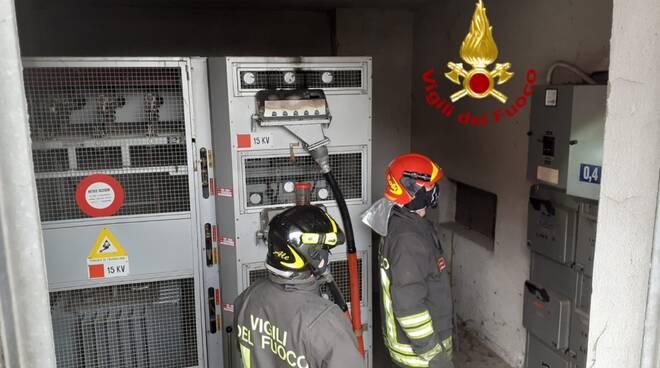 incendio cabina elettrica fossano