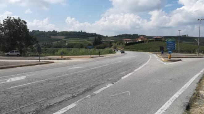 L'incrocio in località Mombelli (foto Settore Viabilità Provincia)