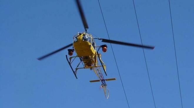 enel elicottero ispezioni