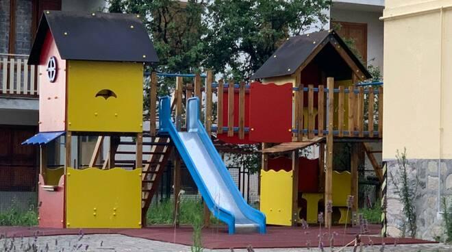 Area giochi asilo San Giacomo di Roburent