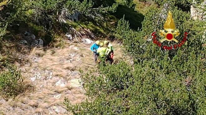 Recupero escursionista Fremamorta
