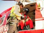 Recupero escursionista Fremamorta vigili elicottero