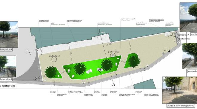 Planimetria riqualificazione piazza Parrocchia Murazzano