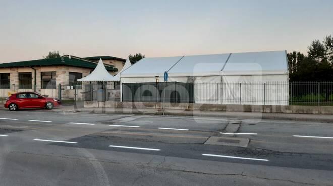 Tendostruttura mensa scuola Borgo Aragno di Mondovì