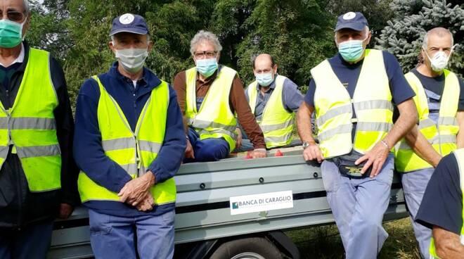 protezione civile beinette pulizia area verde cimitero