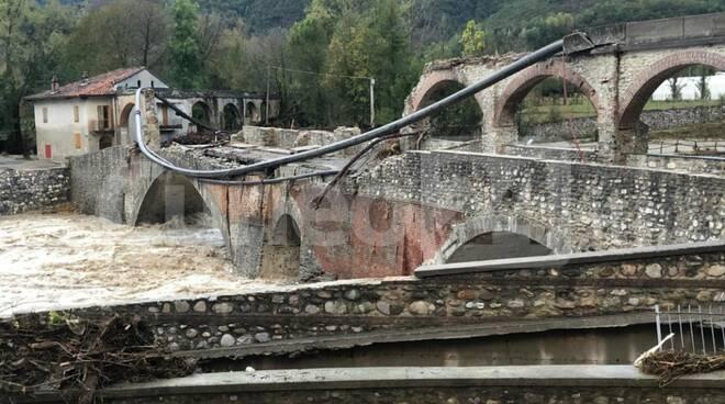 Crollo ponte romano Bagnasco