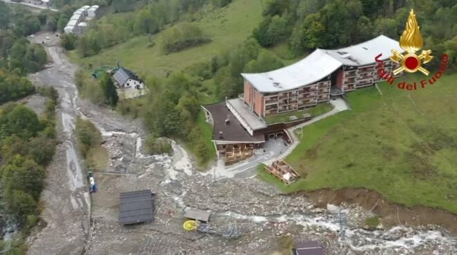 Limonetto seggiovia alluvione