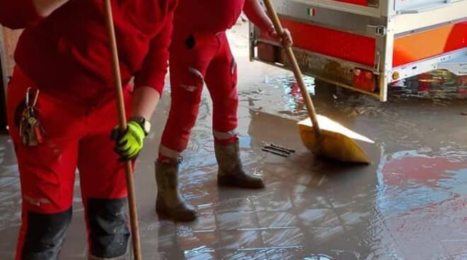 Croce Rossa Limone Piemonte alluvione
