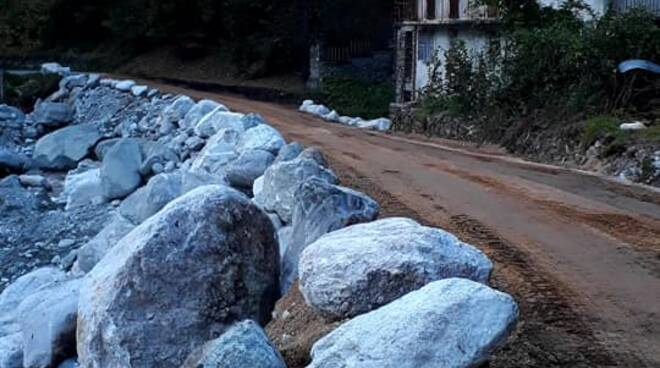 Strada Fontane ripristinata alluvione 2020