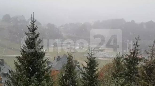 Nevicata Prato Nevoso