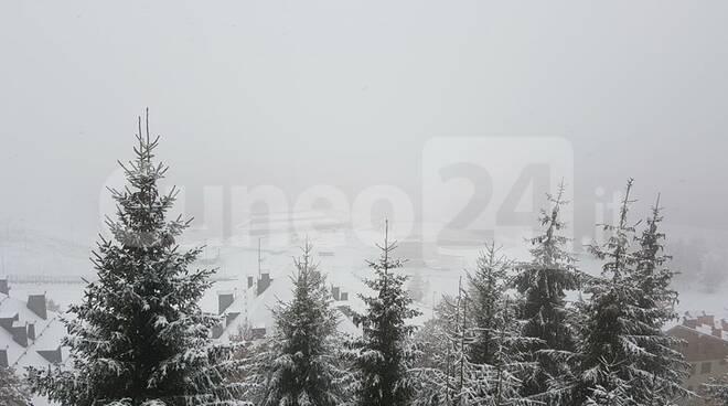 Nevicata Prato Nevoso 15 ottobre 2020