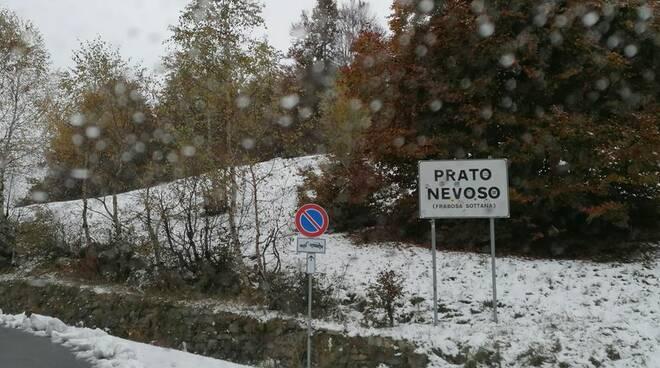 Prato Nevoso nevicata 15 ottobre
