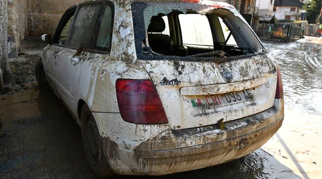 croce rossa limone piemonte auto alluvione