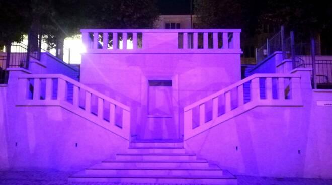 Scalone San Michele Mondovì rosa