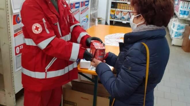 raccolta alimentare croce rossa peveragno ottobre 2020