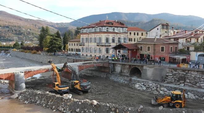 Abbattimento ponte Garessio