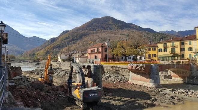 Garessio demolizione ponte Odasso