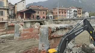 Garessio ponte Odasso demolizione