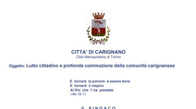 Lutto Carignano