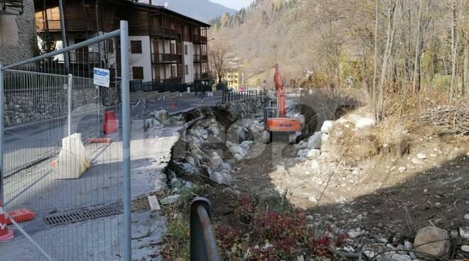 lavori via Almellina Limone Piemonte