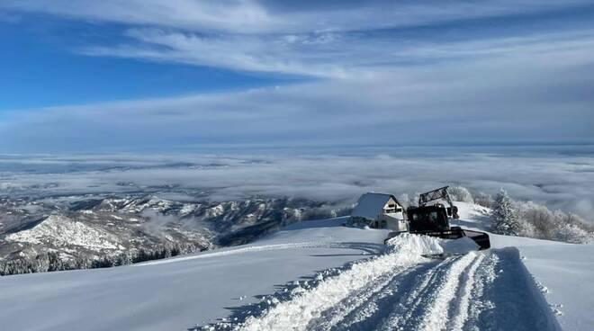 piste da sci a Viola Saint Gréé