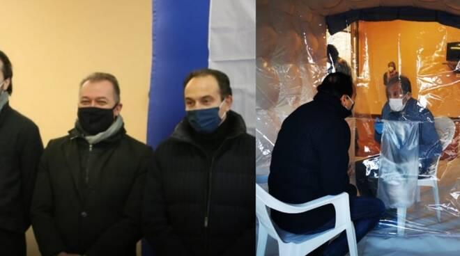 Paolo Bongioanni stanza abbracci Carrù