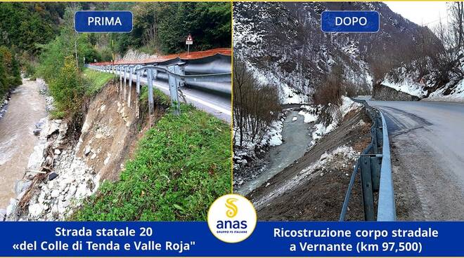 Cantiere statale 20 colle Tenda valle Roja