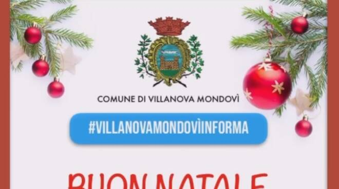Villanova Mondovì auguri Natale 2020