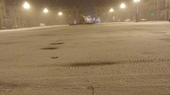 nevicata 2020 cuneo piazza galimberti