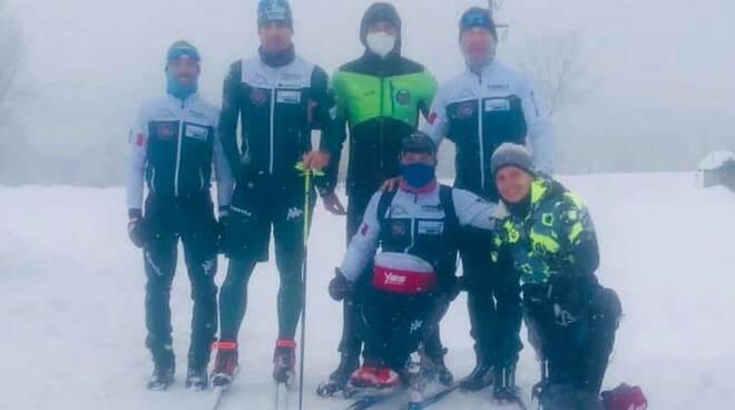 centro fondo festiona squadra paralimpica
