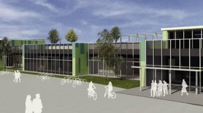 Rendering della nuova scuola di Verzuolo (foto Provincia)