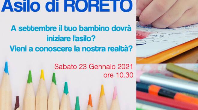 asilo infantile roreto cherasco open day 2021