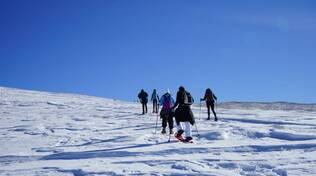 montagna, ciaspolata, neve