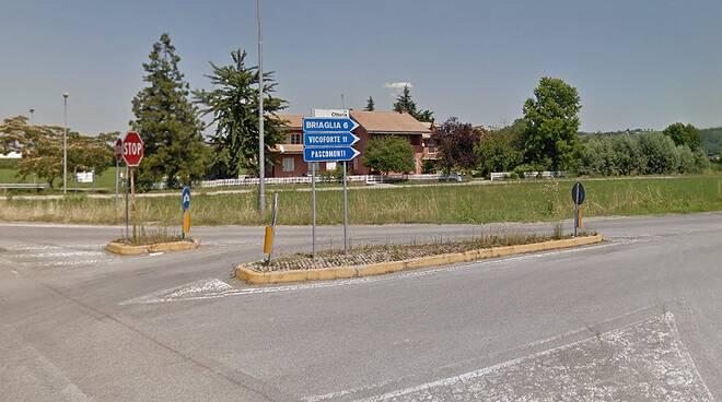 rotonda via Otteria a Mondovì