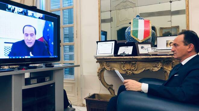 Alberto Cirio e Silvio Berlusconi