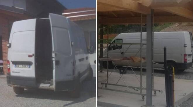 furgone rubato Villanova