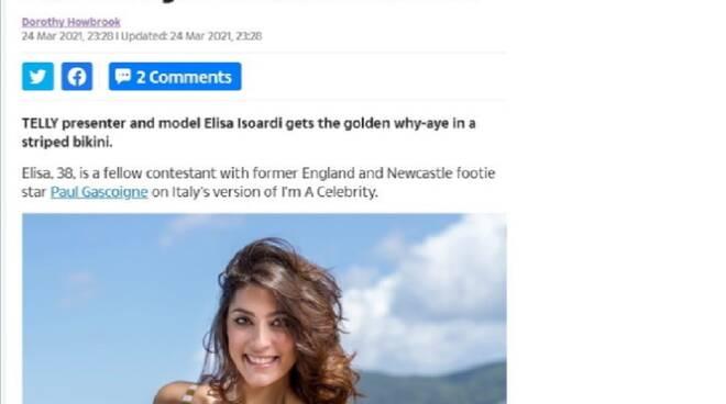 Elisa Isoardi the sun