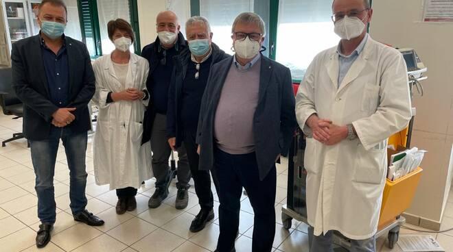 Paolo Bongioanni sopralluogo ospedale Mondovì