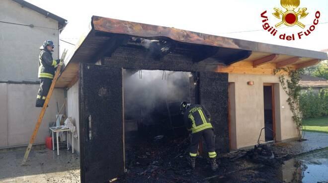 incendio garage saluzzo