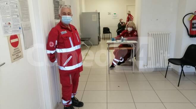 vaccinazione covid Peveragno Croce Rossa